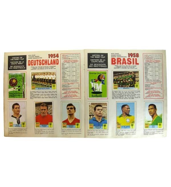 Panini Album Mexico 70 - Weltmeister 1958 et 1958