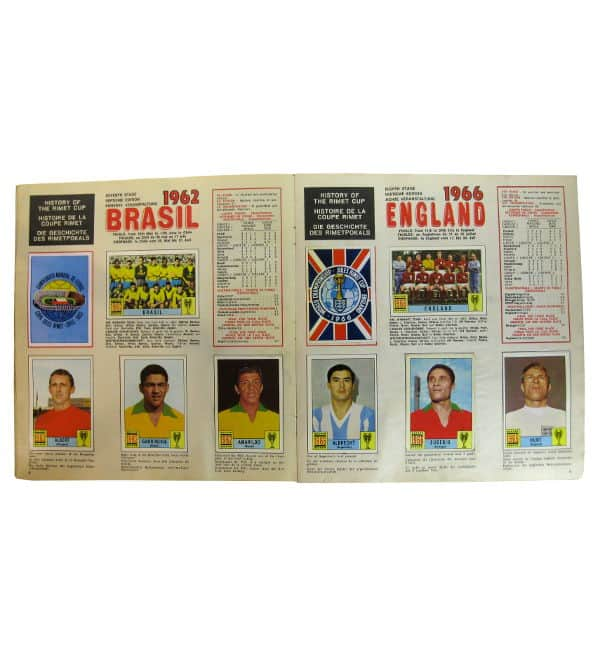 Panini Album Mexico 70 - Weltmeister 1962 et 1966