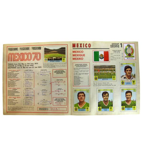 Panini Album Mexico 70 - stade + Mexique