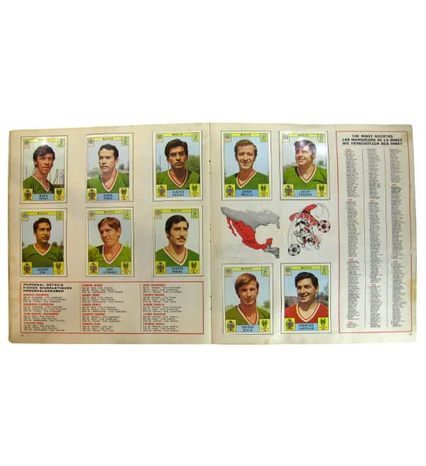 Panini Album Mexico 70 - Mexique