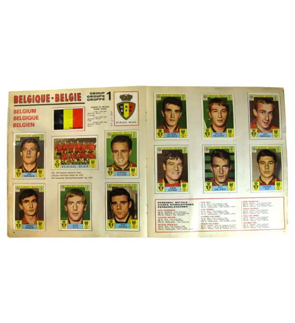 Panini Album Mexico 70 - Belgique