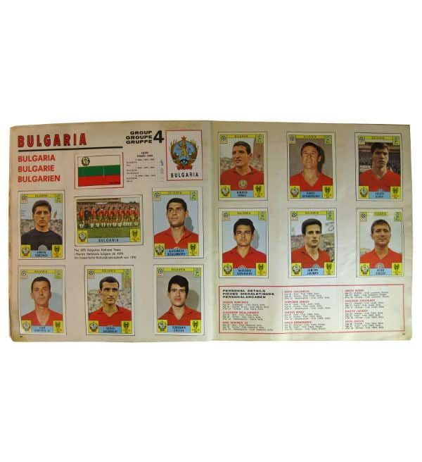 Panini Album Mexico 70 - Bulgarie