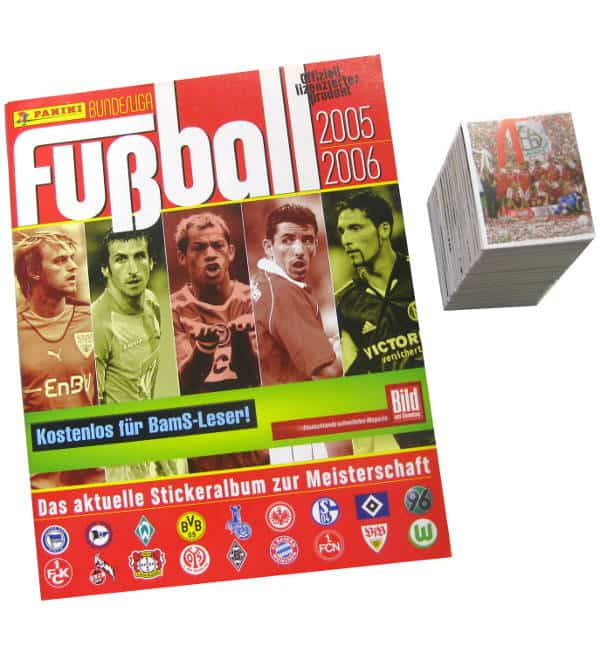 Panini Fussball 2005-2006 Set - tous stickers + Album