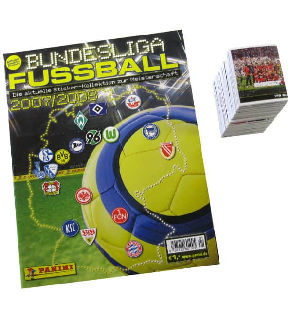 Panini Fussball 2007-2008 tous stickers + Album