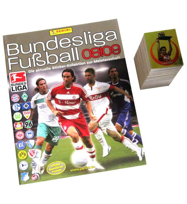 Panini Fussball 2008-2009 tous stickers + Album