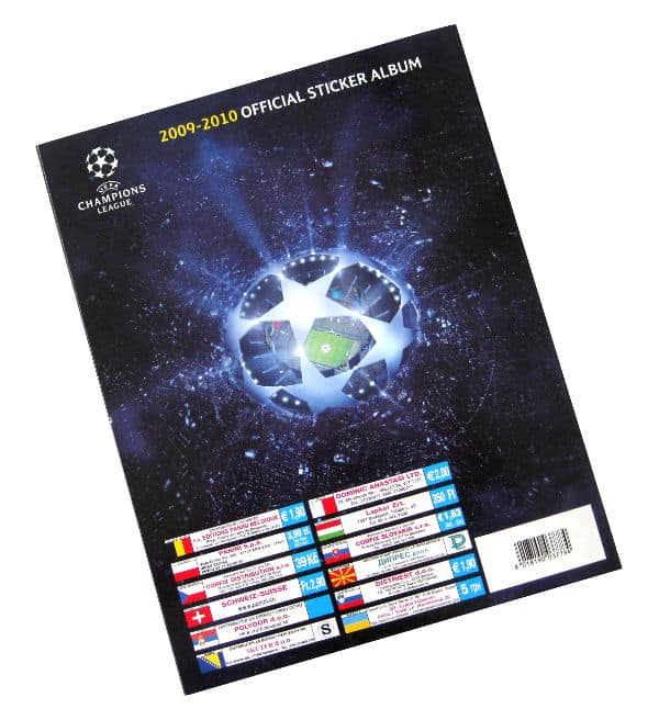 Panini Champions League 2009-2010 album dos