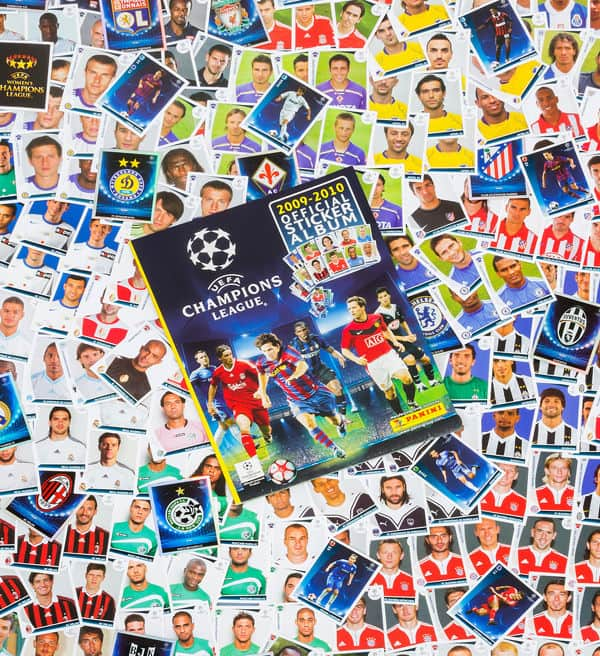 Panini Champions League 2009-2010 tous stickers + Album devant