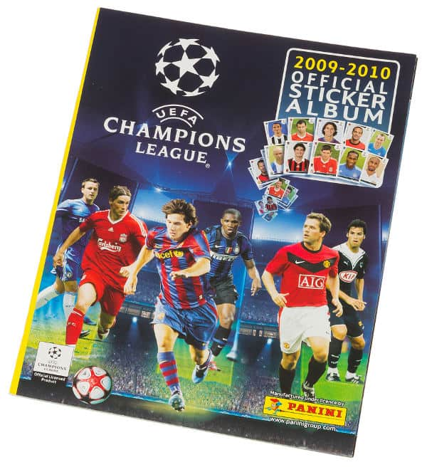 Panini Champions League 2009-2010 album devant