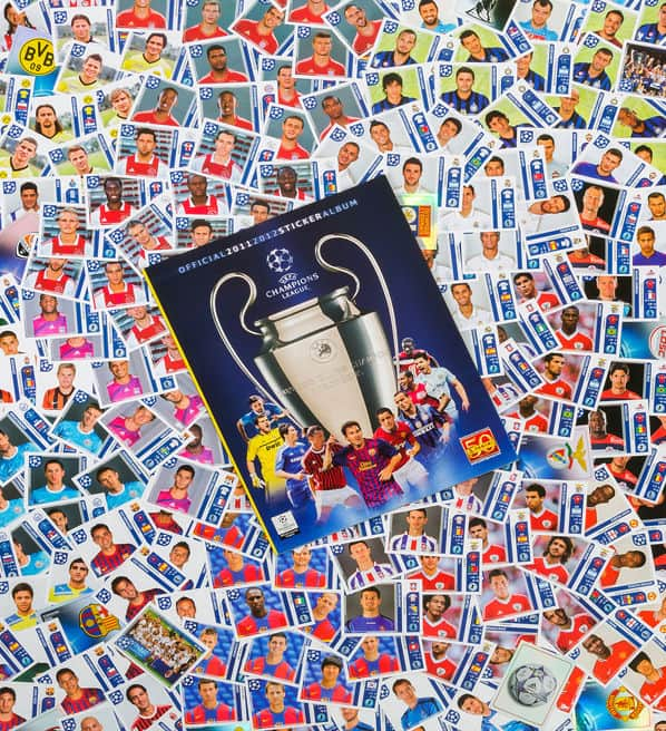Panini Champions League 2011-2012 tous stickers + Album devant