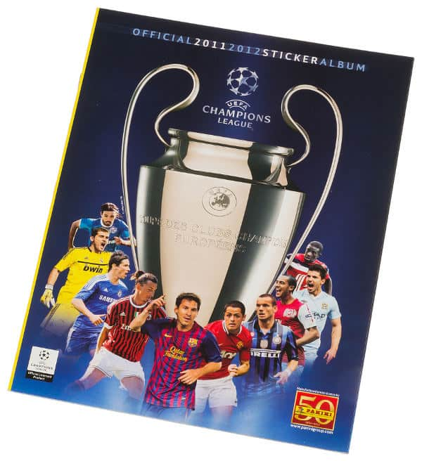 Panini Champions League 2011-2012 album devant