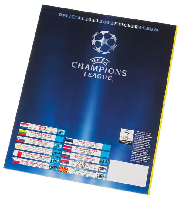 Panini Champions League 2011-2012 album dos