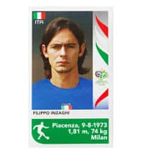 Panini Coupe du Monde 2006 Update Sticker - Filippo Inzaghi