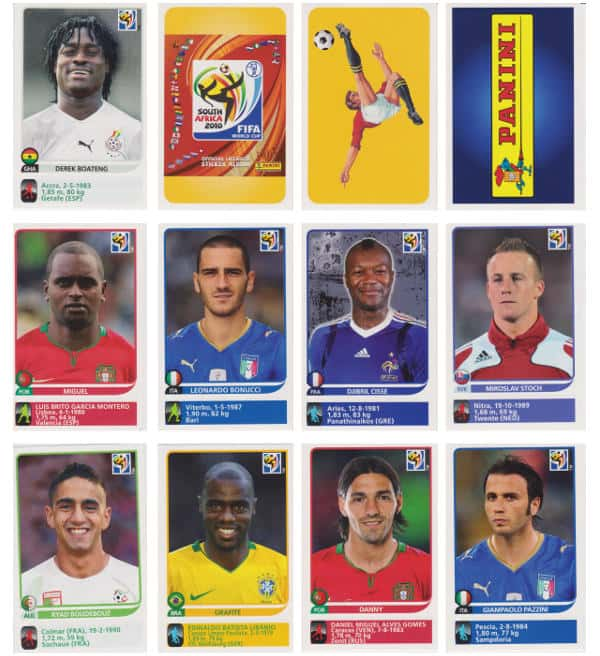 Panini Coupe du Monde 2010 - 80 extra stickers individuels 01-12