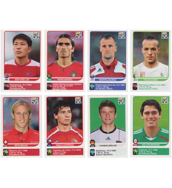Panini Coupe du Monde 2010 - 80 extra stickers individuels 73-80