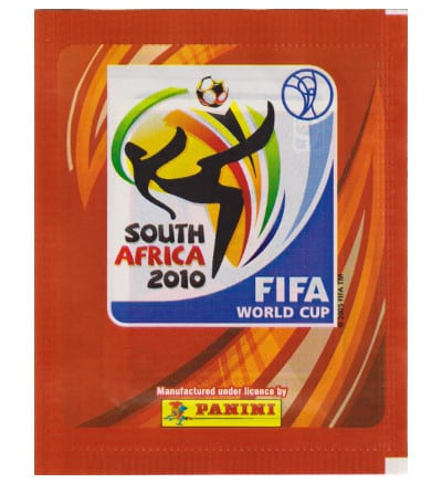 Panini Coupe du Monde 2010 pochette - Version Europe