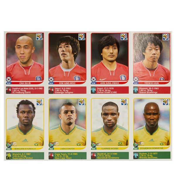 Panini Coupe du Monde 2010 Update 80 Sticker - feuille 2 devant