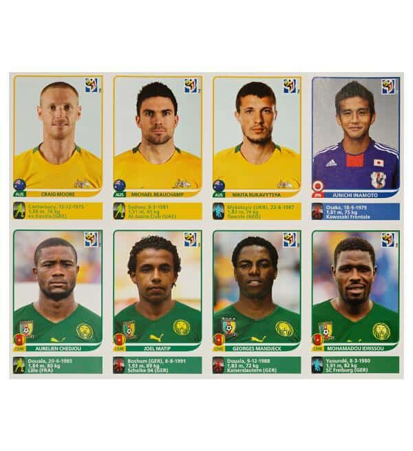 Panini Coupe du Monde 2010 Update 80 Sticker - feuille 8 devant