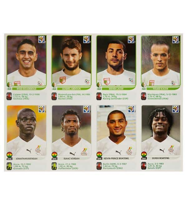 Panini Coupe du Monde 2010 Update 80 Sticker - feuille 9 devant