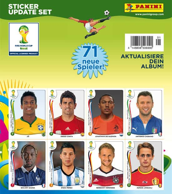 Panini Coupe du Monde Brasil 2014 Update Set - 71 Sticker