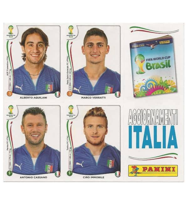 Panini coupe du monde 2014 update feuille italie - Italie foot coupe du monde ...