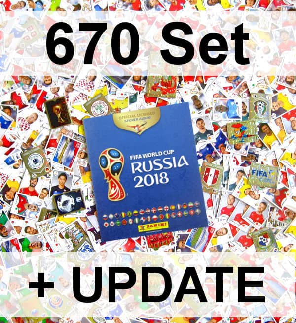 panini russia 2018 version 670 set complet album vide stickerpoint. Black Bedroom Furniture Sets. Home Design Ideas