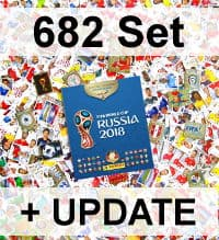 Panini Russia 2018 Version 682 - set complet + album vide
