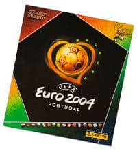 Panini Euro 2004 stickers album vide