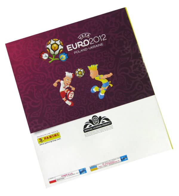 Panini Euro 2012 Album Version Pologne Ukraine dos