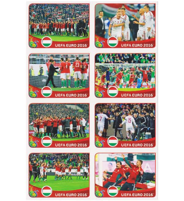 Panini EURO 2016 Hongrie - extra stickers feuille 1