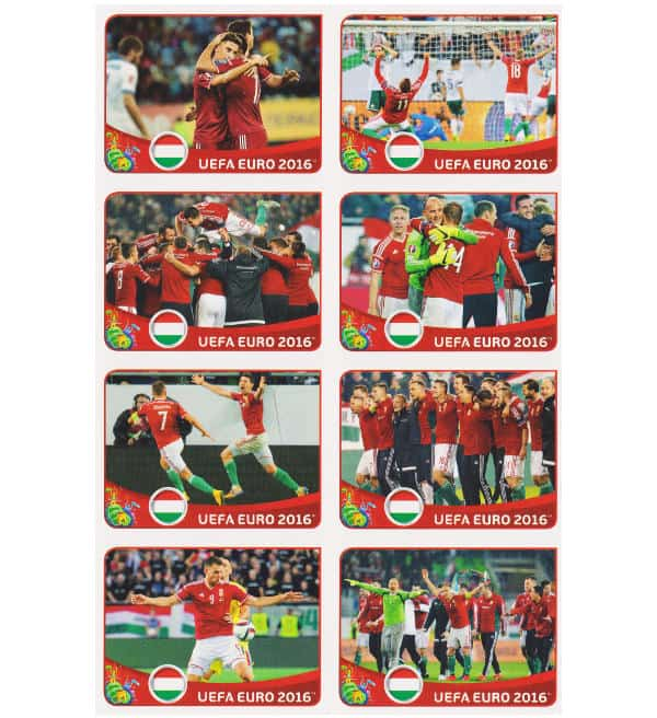 Panini EURO 2016 Hongrie - extra stickers feuille 2