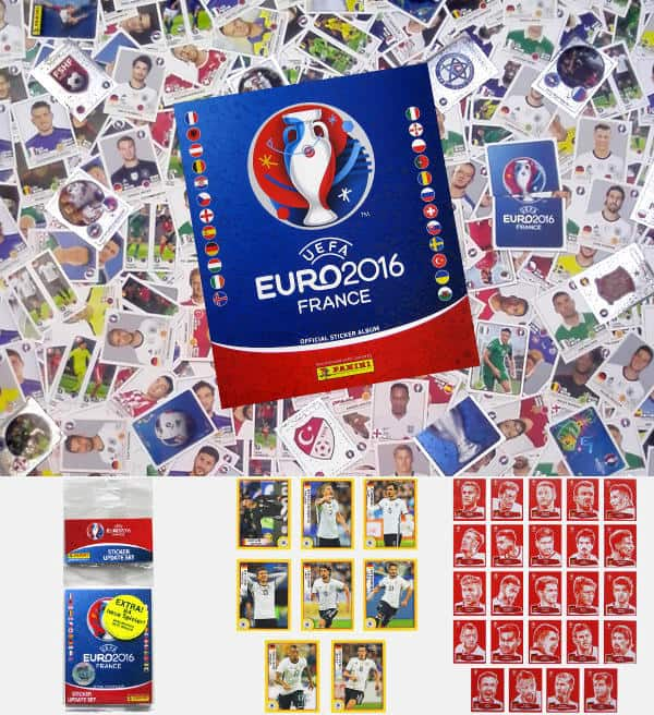 Panini EURO 2016 set complet allemande + extra stickers