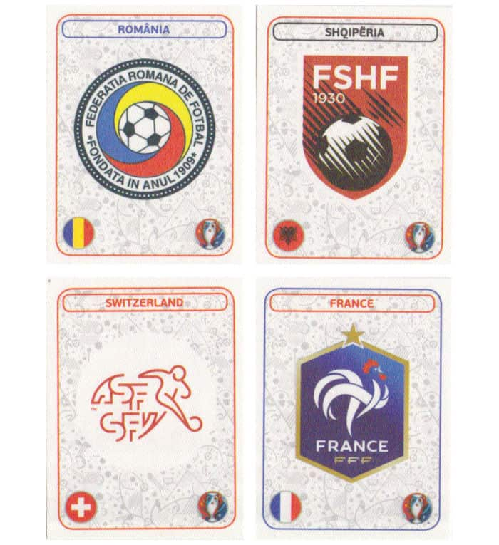 Panini EURO 2016 Star Edition écussons