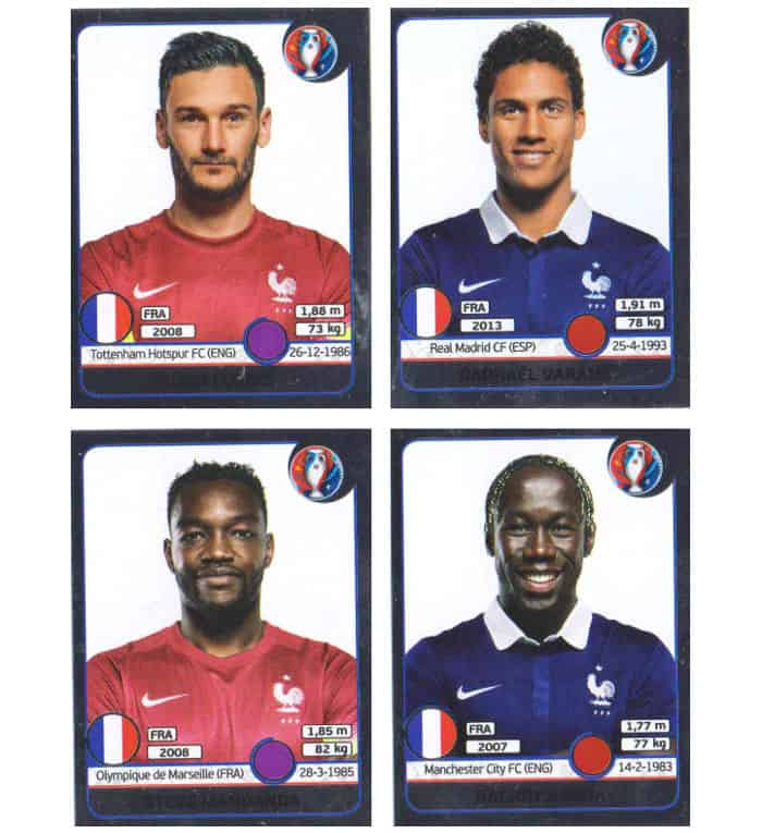 Panini EURO 2016 Star Edition stickers