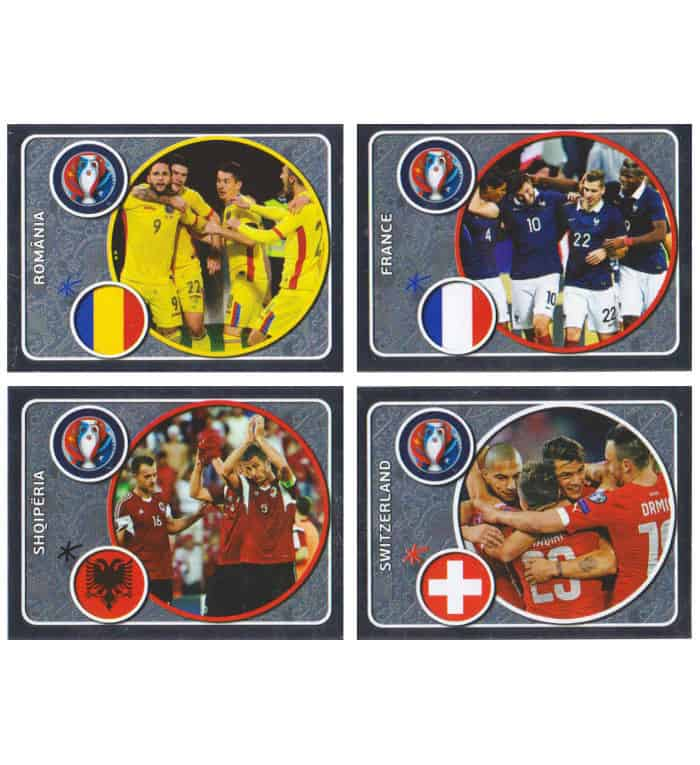 Panini EURO 2016 Star Edition stickers etinclants