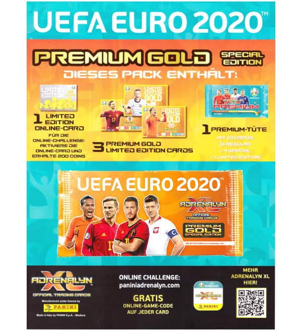 contient 13 cartes PANINI FIFA 365 ADRENALYN XL 2018 Premium Gold Pack