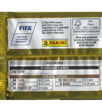 Panini FIFA 365 2017 Adrenalyn XL pochette legende