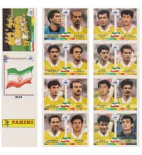 Panini France 98 - feuille Iran original