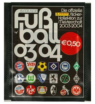 Panini Fussball 2003-2004 pochette Version écussons du club avant