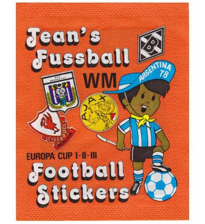 Panini Jeans 1978 Football Stickers pochette