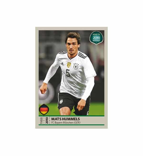 Panini Road to World Cup 2018 Sticker Mats Hummels