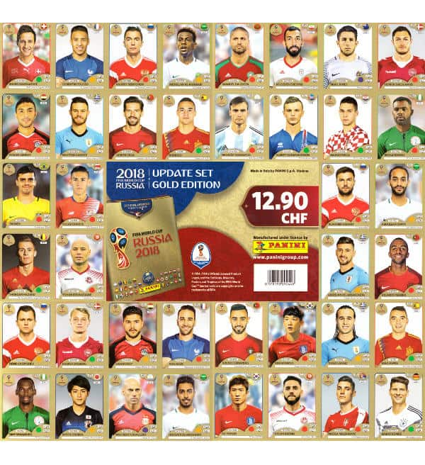 Panini Russia 2018 Gold Edition Update Set