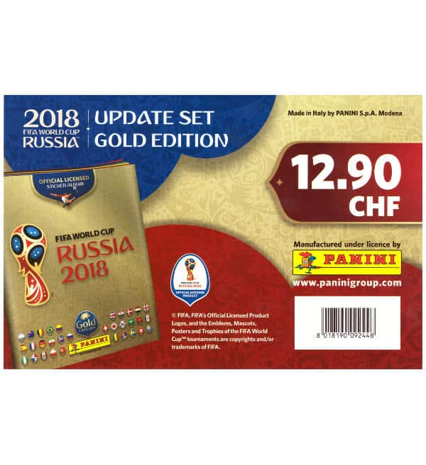 Panini Russia 2018 Update Set Gold Edition
