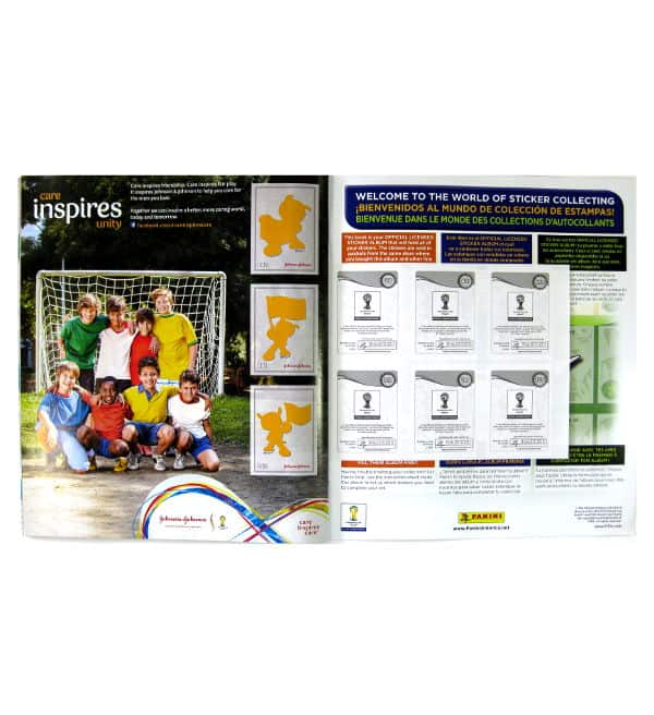 Panini World Cup Brasil 2014 Album USA Johnson & Johnson page spéciale