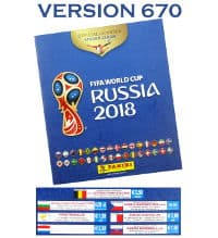 Panini Coupe du Monde 2018 Album - version 670