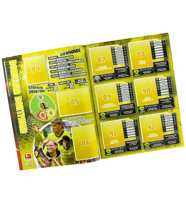 Topps Bundesliga Stickers 2011 / 2012 Album - Content