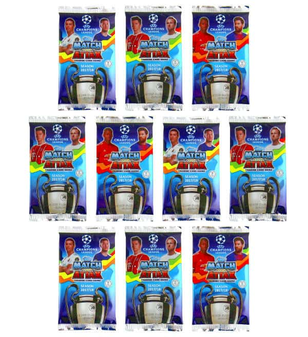 Topps Champions League Match Attax 17 / 18 - 10 Pochettes