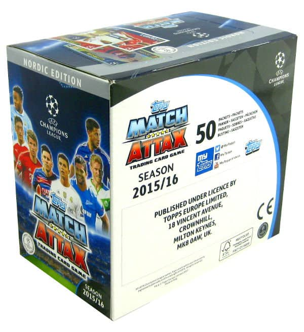 Topps CL Match Attax 2015 / 2016 Nordic Edition 300 cartes