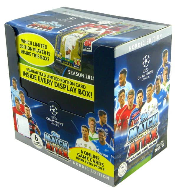 Topps CL Match Attax 2015 / 2016 Nordic Edition Boîte