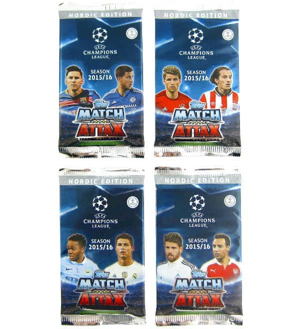 Topps CL Match Attax 2015 / 2016 Nordic Edition pochettes