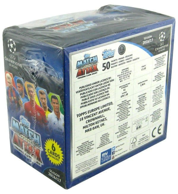 Topps Champions League Match Attax 2016 / 2017 - 50 Pochettes